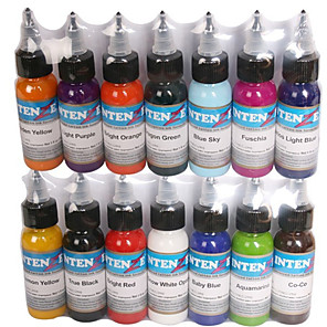 cheap Disposable Tubes & Tips-Trustfire Tattoo Ink 14*30 ml Safety / Wearproof / Durable - Red / Black / White