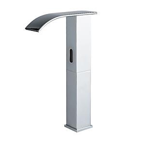 povoljno indukcija Slavine-slavina za sudoperu bez dodira - sa senzorom / vrhunskim dizajnom, crne slobodno stojeće ruke, jedan slavine / mesing za rupe