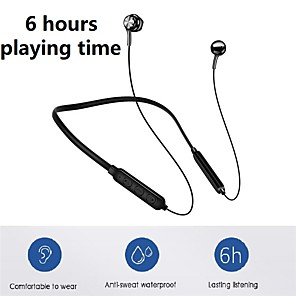 cheap Sports Headphones-LITBest G5 Neckband Headphone Wireless Bluetooth 4.2 Volume Control for Sport Fitness