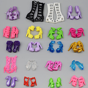 cheap Dolls Accessories-Doll accessories Doll Shoes High Heel Fashion Multi Color 10 Pairs Plastic For 11.5 Inch Doll Handmade Toy for Girl's Birthday Gifts  / Kids
