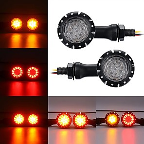 cheap Motorcycle Lighting-12V LED Turn Signals Brake Lights Indicator For Harley Chopper Motorcycle Black