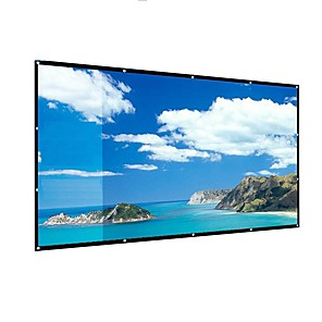 cheap Projectors-169 106*59 inch portable Projection Screen foldable no crease for home theater outdoor