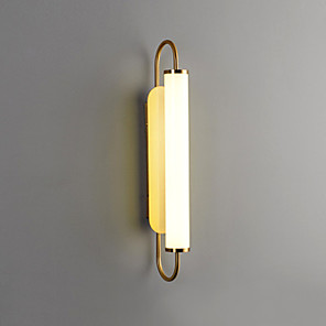 cheap Indoor Wall Lights-Simple Living Room Long Wall Lamp Light Luxury Atmosphere Bedroom Bedside Lamp Mirror Headlamp Staircase Corridor Lamp 12W