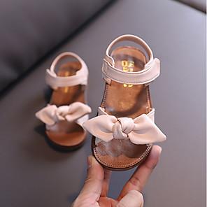 cheap Kids' Sandals-Girls' Sandals Comfort PU Toddler(9m-4ys) / Little Kids(4-7ys) Black / Pink / Beige Summer