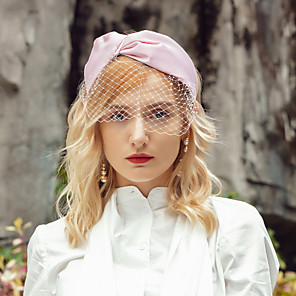 cheap Party Hats-Headwear Elegant Polyester Hats with Bowknot 1pc Wedding / Party / Evening Headpiece