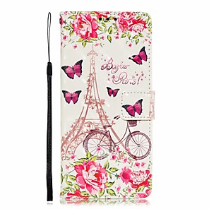 cheap Samsung Case-Case For Samsung Galaxy S9 / S8 Plus / Note 9 Shockproof / Pattern Full Body Cases Tile / Scenery PU Leather / TPU