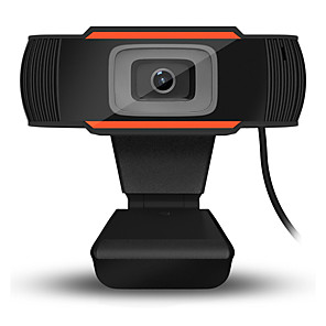 cheap CCTV Cameras-USB HD Webcam Digital Video Web Cam Camera Microphone Clip Manual Adjustable Webcam for Computer PC Laptop Desktop