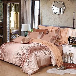 cheap Duvet Cover Sets-Four-piece Satin Satin Jacquard Silk Cotton Cotton Cotton Silk Slip bedspread on a european-style high-end silk bed
