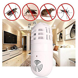 cheap Health & Household Care-High -Frequency Ultrasonic Soundwaves Electronic Mosquito Pest Insect Trap Atomic Bug Sonic Zapper Cockroach Repeller