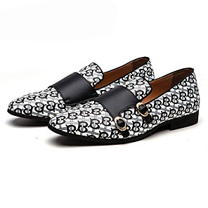 cheap Men's Sneakers-Men's Spring & Summer Classic Daily Loafers & Slip-Ons PU Black / Orange