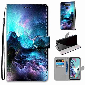 cheap Other Phone Case-Case For LG Q70 / LG K50S / LG K40S Wallet / Card Holder / with Stand Full Body Cases Colorful Clouds PU Leather / TPU for LG K30 2019 / LG K20 2019