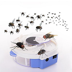 cheap Home Security System-Electric Fly Trap Device with Trapping Food USB Rechargeable
