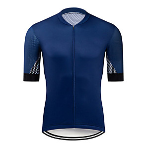 cheap Cycling Jerseys-21Grams Men's Short Sleeve Cycling Jersey Polyester Blue Rose Red Polka Dot Bike Jersey Top Mountain Bike MTB Road Bike Cycling UV Resistant Breathable Quick Dry Sports Clothing Apparel / Stretchy