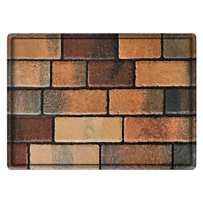 cheap Rugs-Fancy Floor Tiles Rectangle 2/5 (1 cm) Doormats Machine Made Bonded Non Skid Classic