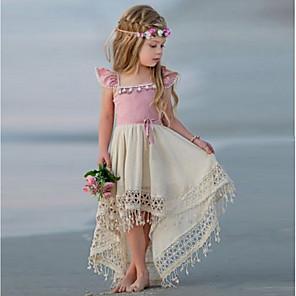 cheap Movie & TV Theme Costumes-Kids Girls' Color Block Dress Blushing Pink