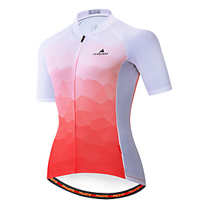 cheap Cycling Jerseys-Miloto Women's Short Sleeve Cycling Jersey Red / White Bike Jersey Top Mountain Bike MTB Road Bike Cycling Breathable Quick Dry Sports Clothing Apparel / Stretchy