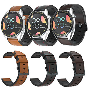 cheap Smartwatch Bands-Watch Band for Huawei Watch GT / Huawei Watch GT 2 / Huawei Watch GT2 46mm Huawei Sport Band / Classic Buckle / Business Band Genuine Leather Wrist Strap