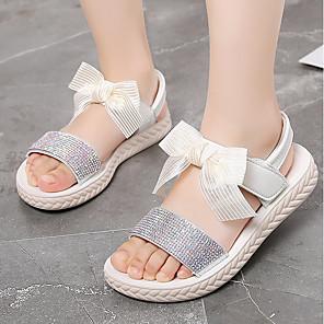 cheap Kids' Sandals-Girls' Sandals Comfort PU Little Kids(4-7ys) / Big Kids(7years +) White / Pink Summer