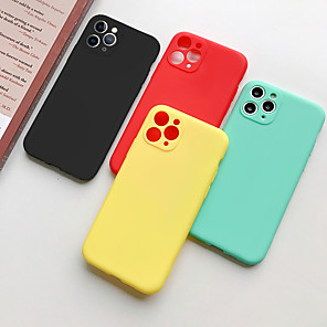 cheap iPhone Cases-Solid Colored Frosted TPU for Apple iPhone Case 11 Pro Max X XR XS Max 8 Plus 7 Plus 6 Plus  SE(2020) Back Cover