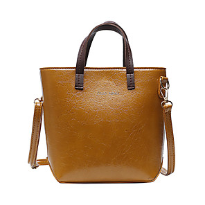 cheap Women's Sandals-Women's Bags PU Leather / Polyester Top Handle Bag for Daily / Office & Career Black / Blue / Brown / Fall & Winter