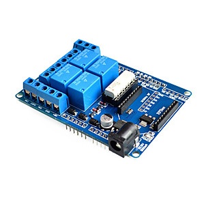 cheap Relays-4 channel Wireless DC 5V Relay Expansion Bluetooth Shield Board