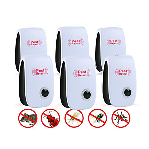 cheap Other Household Appliances-6Pcs Ultrasonic Plug In Pest Repeller For Flea, Insects, Mosquitoes, Mice, Spiders, Ants, Rats, Roaches, Bugs, Non-Toxic, Humans & Pets Safe