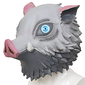 cheap Anime Costumes-Inspired by Demon Slayer: Kimetsu no Yaiba Bakugou Katsuki Anime Cosplay Costumes Japanese Mask Mask For Men's Women's