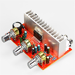 cheap Car Audio-Amplifier Board Digital Audio Stereo 12-15 V 40+40 2.0 TDA7377 Adapters Car 20-20000 Hz for Car Home Theater Speakers DIY