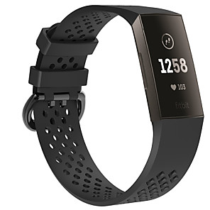 cheap Smartwatch Bands-Breathable Style Wrist Strap for Fitbit Charge 3 Silicone Sport Watch Band