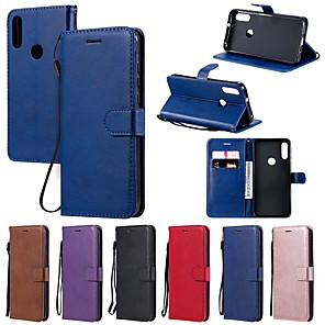 cheap Other Phone Case-Case For Motorola MOTO G8 Play / MOTO G8 Power/MOTO E6 plus Wallet / Card Holder / with Stand Full Body Cases Solid Colored PU Leather For MOTO One Power/P30 note/P30 Play/Z4 Play/Z3 Play/E7
