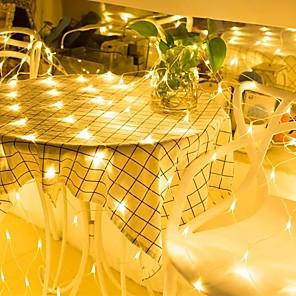 cheap LED String Lights-3m*2m 200 LEDs Net Lights Curtain lights WhiteWarm WhiteBlueMulti Color Party Decorative Linkable 220-240V 1pc