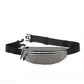 cheap Running Bags-Running Belt Fanny Pack Belt Pouch / Belt Bag for Running Hiking Outdoor Exercise Traveling Sports Bag Reflective Adjustable Waterproof Bonded Nylon Men's Women's Running Bag Adults