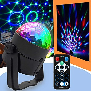 cheap Stage Lights-U'King Disco Lights Party Light LED Stage Light / Spot Light Sound-Activated / Remote Control / Music-Activated 6 W Portable RGB for Dance Party Wedding DJ Disco Show Lighting
