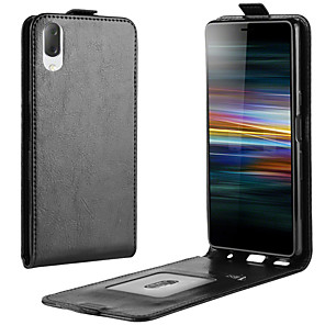 cheap Other Phone Case-For Sony Xperia L3 Crazy Horse Vertical Flip Leather Protective Case
