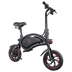 cheap Smartphones-KUGOO Kirin B1 Folding Moped Electric Bike 250W Brushless Motor Max Speed 25km/h 6AH Lithium Battery Disc Brake 12 Inch Pneumatic Tires E-Bike APP Speed Setting- Black