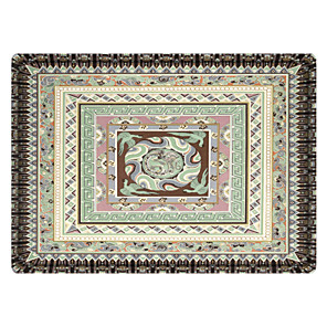 cheap Rugs-Small Fish in The Lake Print High Quality Memory Foam Bathroom Carpet and Door Mat Non-slip Absorbent Super Comfortable Flannel Bathroom Carpet Bed Rug