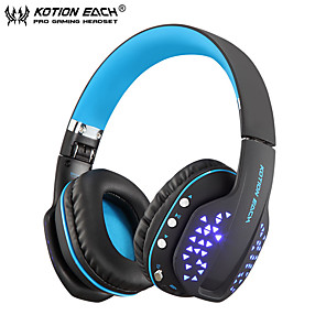 cheap Sleeves,Cases & Covers-KOTION EACH B3507 Bluetooth Headphones Foldable Wireless Deep Bass Stereo PS4 Gaming Headset with Mic Led Earphone Handsfree for Phone