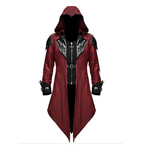 cheap Historical & Vintage Costumes-Inspired by Assassin Alexios Video Game Cosplay Costumes Cosplay Suits Vintage Coat Costumes