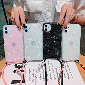 cheap iPhone Cases-Marble Phone Case For iPhone SE 2020 / 11 / 11Pro / 11 Pro Max /  X / XS / XS Max / XR/ 8 /  8Plus / 7Plus / 7 / 6S / 6S Plus / 6Plus /6 Dream Shell Pattern Cases With Lanyard Soft TPU Silicone Coque
