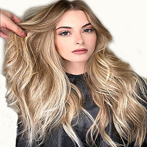 cheap Synthetic Trendy Wigs-Synthetic Wig kinky Straight Asymmetrical Wig Short Light Blonde Synthetic Hair 12 inch Women's Classic Women Sexy Lady Blonde