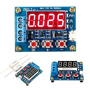 cheap Modules-ZB2L3 Li-ion Lithium Lead-acid Battery Capacity Meter Discharge Tester Analyzer