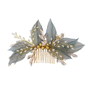 cheap Party Sashes-Sweet Style Simple Style Chiffon / Alloy Hair Combs / Hair Accessory with Metal 1 Piece Wedding / Party / Evening Headpiece
