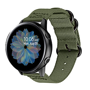 cheap Smartwatch Bands-Watch Band for Samsung Galaxy Watch 42mm / Samsung Galaxy Active / Samsung Galaxy Watch Active Samsung Galaxy Sport Band / Modern Buckle / Business Band Nylon Wrist Strap
