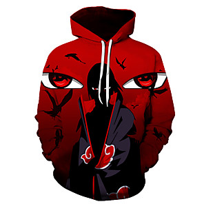 cheap Anime Costumes-Inspired by Naruto Naruto Uzumaki Cosplay Costume Hoodie Polyster Print Printing Hoodie For Men's / Women's