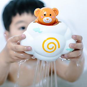 cheap Bathroom Gadgets-Cute Baby Bath Toys Rain Cloud Plastic Water Game Shower Squirt Float Animal Educational Summer Toys For Kids 1-3 Years Elephant