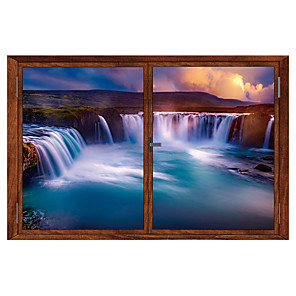 cheap Wall Stickers-Landscape Wall Stickers 3D Wall Stickers Decorative Wall Stickers, PVC Home Decoration Wall Decal Wall / Window Decoration 1pc