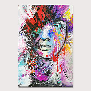 cheap Abstract Paintings-Mintura Large Size Hand Painted Girl Oil Painting on Canvas Modern Abstract Pop Art Wall Pictures For Home Decoration No Framed