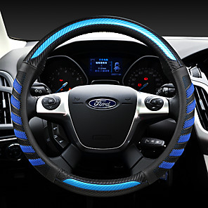 cheap Steering Wheel Covers-ford  fashion  Car Steering Wheel Covers Leather 38cm Breathable Anti Slip  For universal Four Seasons Auto Accessories