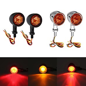 cheap Motorcycle Lighting-12V Universal Motorcycle Bullet Turn Signal Indicator Brake Runnning Lights 4 Wire