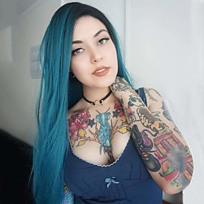 cheap Synthetic Lace Wigs-Synthetic Lace Front Wig Straight Middle Part Lace Front Wig Ombre Long Blue Synthetic Hair 18-26 inch Women's Cosplay Soft Party Blue Ombre